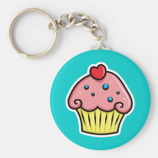 Yummy Cupcakes Basic Round Button Key Ring