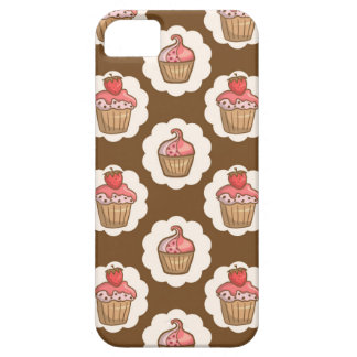 Yummy cupcakes in pink and brown iPhone 5 cases