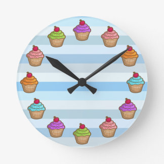 Yummy Cupcakes with Cherry Wallclocks