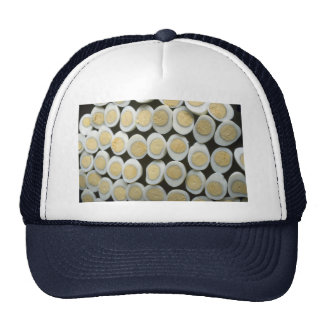 Yummy Decoration with halved hard-boiled eggs Mesh Hat