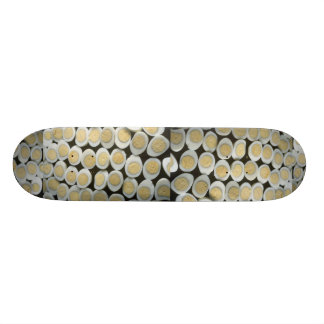 Yummy Decoration with halved hard-boiled eggs Skateboard Decks