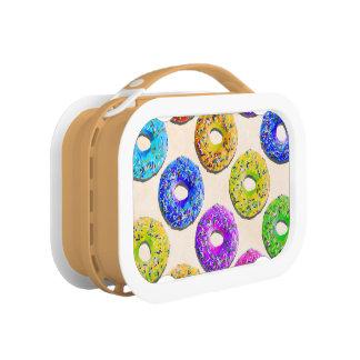 Yummy donuts pattern lunch box