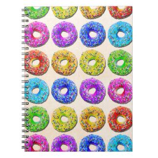 Yummy donuts pattern notebooks