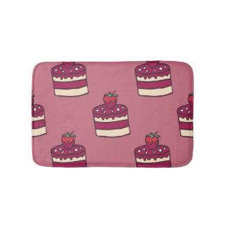 Yummy doodle cupcake pattern. bath mats
