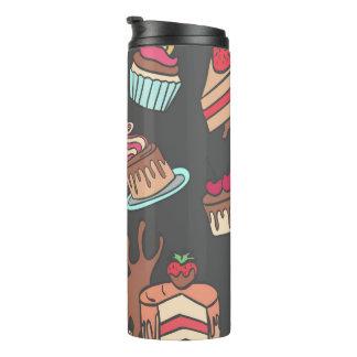 Yummy doodle cupcake pattern. thermal tumbler
