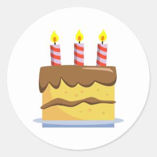 Yummy Food - Birthday Cake Round Sticker