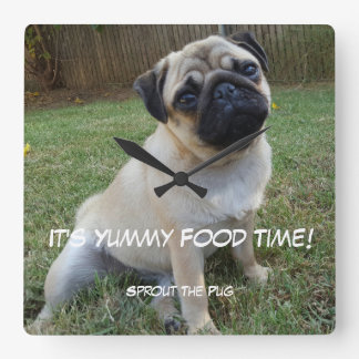 Yummy Food Time Square Wall Clock