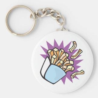 yummy french fries basic round button key ring