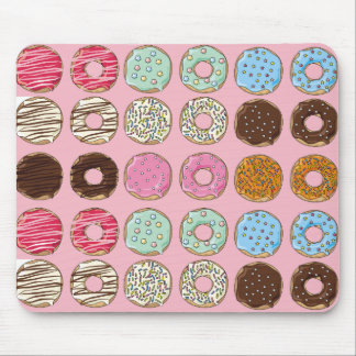 Yummy Frosted and Sprinkled Donuts Mouse Pad