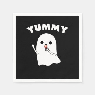 Yummy Ghost Coctail Paper Napkins