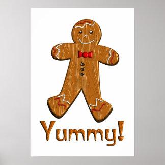 Yummy Gingerbread Man Poster