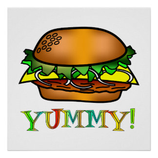 Yummy Hamburger Poster