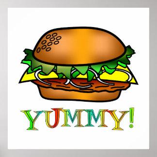 Yummy Hamburger Posters