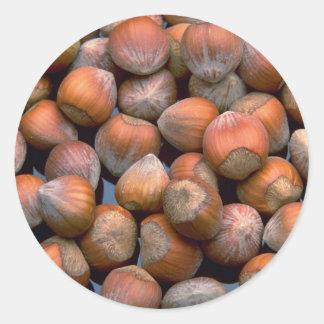 Yummy Hazelnuts Classic Round Sticker