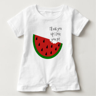 Yummy in my Tummy Watermelon Baby Romper Baby Bodysuit