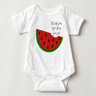 Yummy in my Tummy Watermelon Baby Shirt
