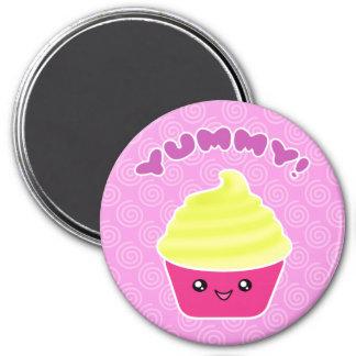Yummy Lemon Cream Cupcake Kawaii Magnet