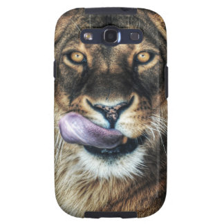 Yummy - lioness licking samsung galaxy SIII covers