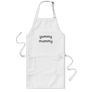yummy mummy long apron