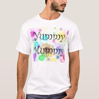 yummy mummy flowers tshirt