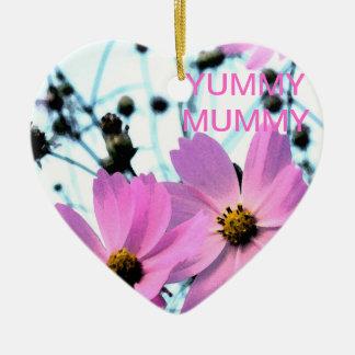 """YUMMY MUMMY HEART ORNANENT CERAMIC HEART DECORATION"