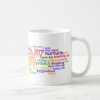 Yummy Mummy Wordle Coffee Mug