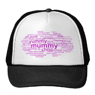 Yummy Mummy Wordle Trucker Hats