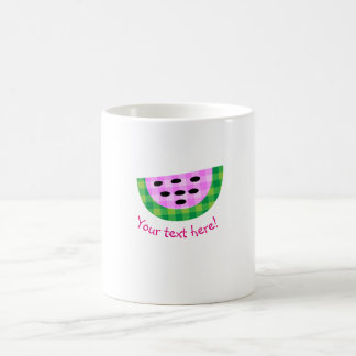 Yummy Neon Plaid Watermelon Slice Icon Coffee Mug