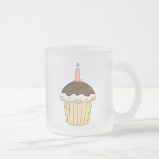 Yummy Pink & Brown Cupcake Strawberry Chocolate Mugs