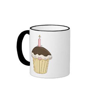 Yummy Pink & Brown Cupcake Strawberry Chocolate Coffee Mug