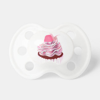 Yummy Pink Cupcake Baby Pacifier