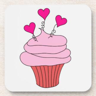 Yummy Pink Cupcake Coaster