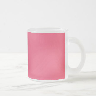 YUMMY PINK GIRLY BEAUTY FASHIONABLE COLORS BACKGRO FROSTED GLASS COFFEE MUG