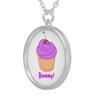 Yummy Purple Cupcake Necklace