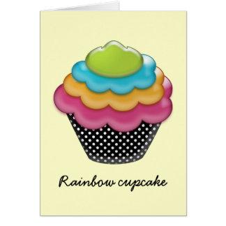 yummy rainbow cupcake greeting card