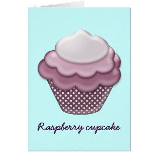 yummy raspberry cupcake greeting card