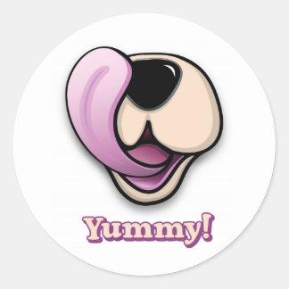 Yummy! Round Sticker