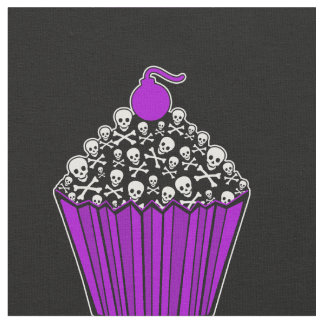 +{ Yummy Skull Cupcakes }+ Fabric