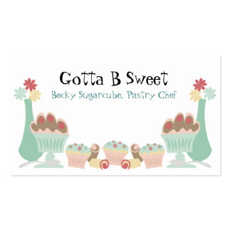 Yummy sweet desserts baker pastry chef  biz cards pack of standard business cards