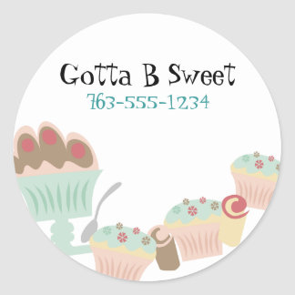 Yummy sweet desserts baker pastry chef stickers
