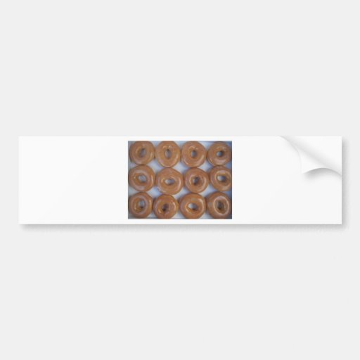 YUMMY SWEET DONUTS BUMPER STICKERS