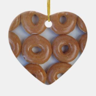 YUMMY SWEET DONUTS CERAMIC HEART DECORATION