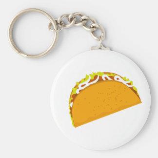 Yummy Taco Basic Round Button Key Ring