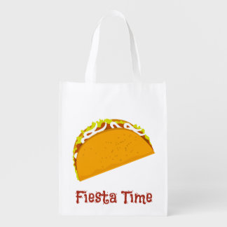 Yummy Taco Reusable Grocery Bag