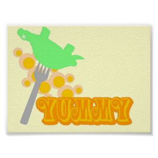 Yummy Turtle Poster