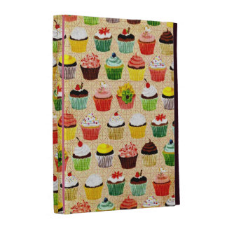 Yummy Vintage Cupcakes iPad Folio Cases