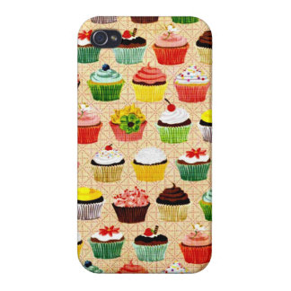 Yummy Vintage Cupcakes iPhone 4 Case