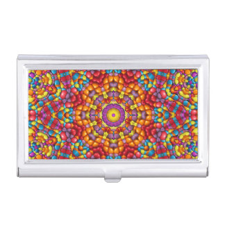 Yummy  Vintage Kaleidoscope Business Card Case