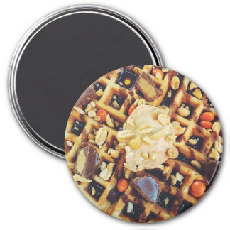Yummy Waffles with Syrup Refrigerator Magnet