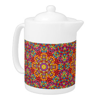 Yummy Yum Kaleidoscope  Colorful Teapots